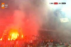 Süper Kupa Maçında GS'li Taraftarlar Stadı Ateşe Verdi!