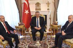 Binali Yıldırım ve MHP CHP Liderlerinin Görüşmesi Sona Erdi