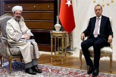 Cumhurbaşkanı Erdoğan, Diyanet İşleri Başkanı Mehmet Görmez'i Kabul Etti