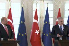 Başbakan Yıldırım ve AP Başkanı Martin Schulz'dan Ortak Basın Toplantısı