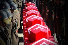 Hakkari'de Şehit Olan 12 Asker Son Yolculuğuna Uğurlandı