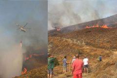 Erdek'te Korkutan Yangın
