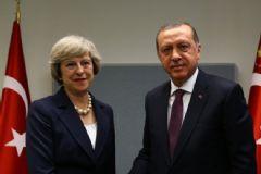 Cumhurbaşkanı Erdoğan, İngiltere Başbakanı Theresa May'i Kabul Etti