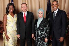 Erdoğan ve Obama Çiftlerinden Aile Fotoğrafı