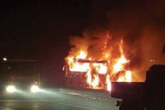 Ankara'da Can Pazarı: İçi Dolu Yolcu Otobüsü Alev Alev Yandı!