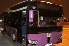 Okmeydanı'nda Yolcu Otobüsüne Molotoflu Saldırı!