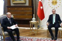 Erdoğan Ve Bahçeli Beştepe'de Görüştü