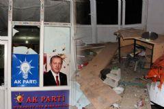 Van'da AK Parti İlçe Binasına Saldırı