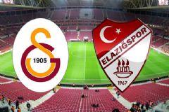 İşte Galatasaray- Elazığspor Maçı İlk 11'leri
