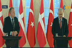 Başbakan Yıldırım, Danimarka Başbakanı ile Ortak Basın Toplantısı Düzenledi