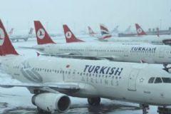 Atatürk Havalimanı'nda Kar Tedbiri