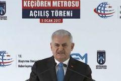 Başbakan Yıldırım Keçiören Metrosunun Açılış Töreninde Konuştu