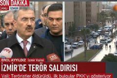 İzmir Valisi: Veriler PKK'nın Yaptığını Gösteriyor