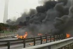 İstanbul'da Helikopter Düştü