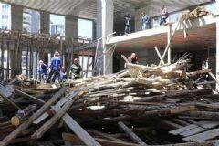 Samsun'da Cami İnşaatında Göçük