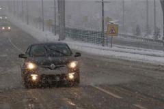 Bolu Dağı'nda Etkili Kar Yağışı