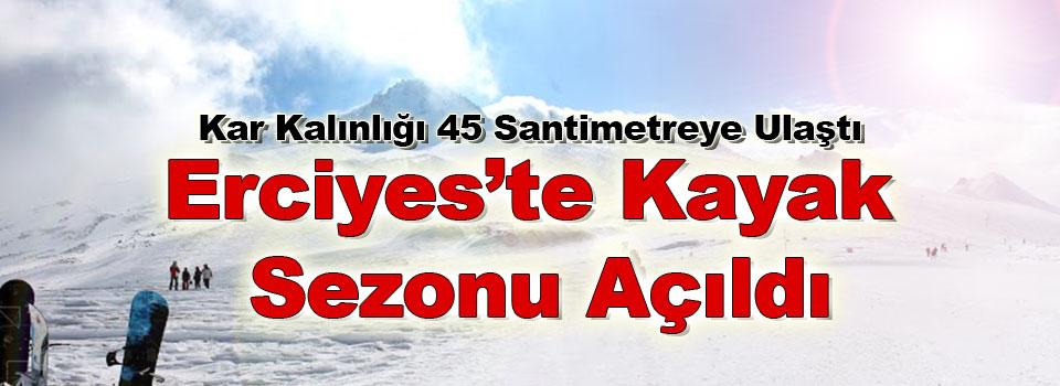 Erciyes Dağı'nda Kayak Sezonu Açıldı