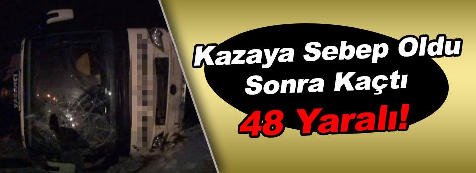 Yolcu Otobüsüyle Kamyon Çarpıştı: 48 Yaralı!