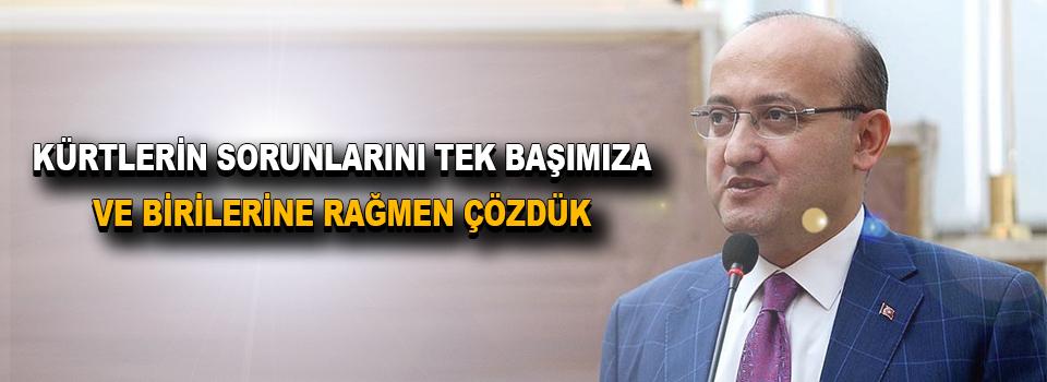 """Akdoğan: """"Kürtlerin Sorunlarını Tek Başımıza Ve Birilerine Rağmen Çözdük"""""""