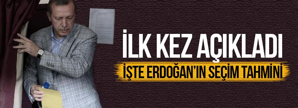 İlk Kez Açıkladı: İşte Erdoğan'ın Seçim Tahmini