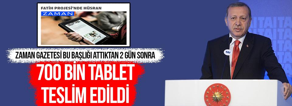 FATİH Projesi Kapsamında 700 Bin Tablet Dağıtıldı