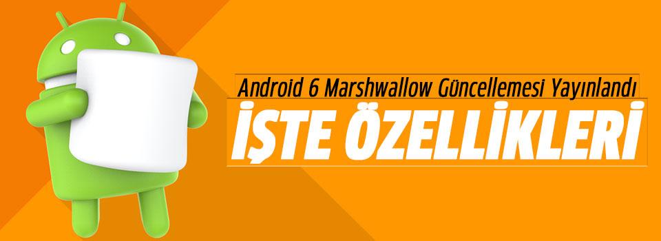 Android 6.0 Marshmallow Güncellemesi Yayınlandı
