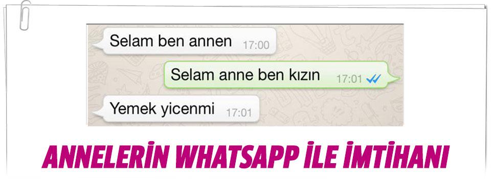 Annelerin Whatsappla İmtihanı