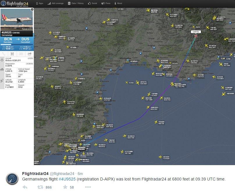 Fransa'da uçak düştü - tarafsız haber